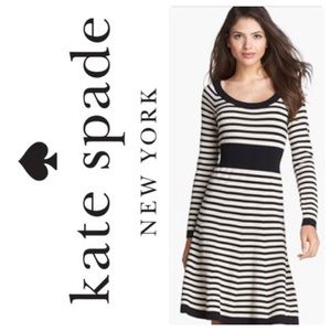 Kate Spade Striped Wool Sweater Dress